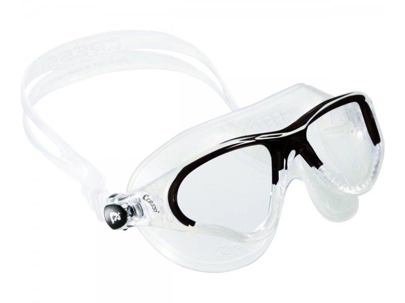 Очки Cressi Cobra Прозрачный Силикон/прозрачные Линзы/черная Рамка