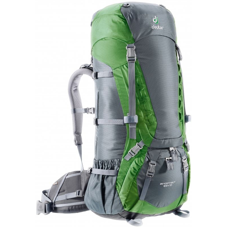 Фото рюкзак deuter aircontact 65+10 granite/emerald