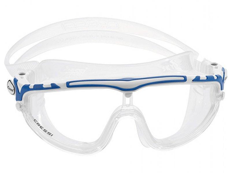 Очки Cressi Skylight Прозрачный Силикон/ Синяя Рамка/прозрачные Линзы