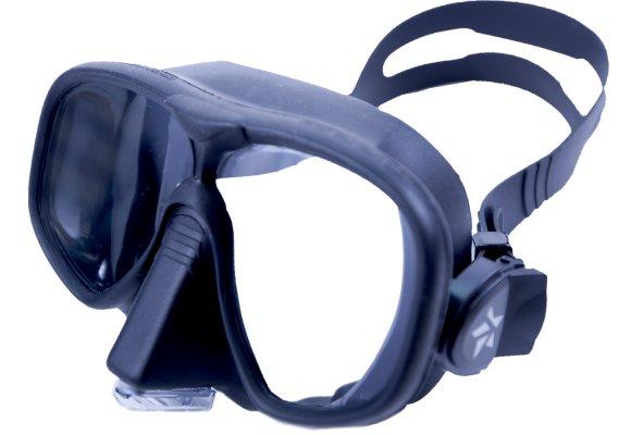 Маска Подводная Sargan Сейм (Черный Силикон) С Носовым Клапаном Черная фото