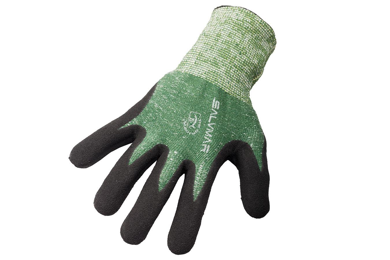 Перчатки Dyemax Защитные C Резиновой Ладонью, Зеленые