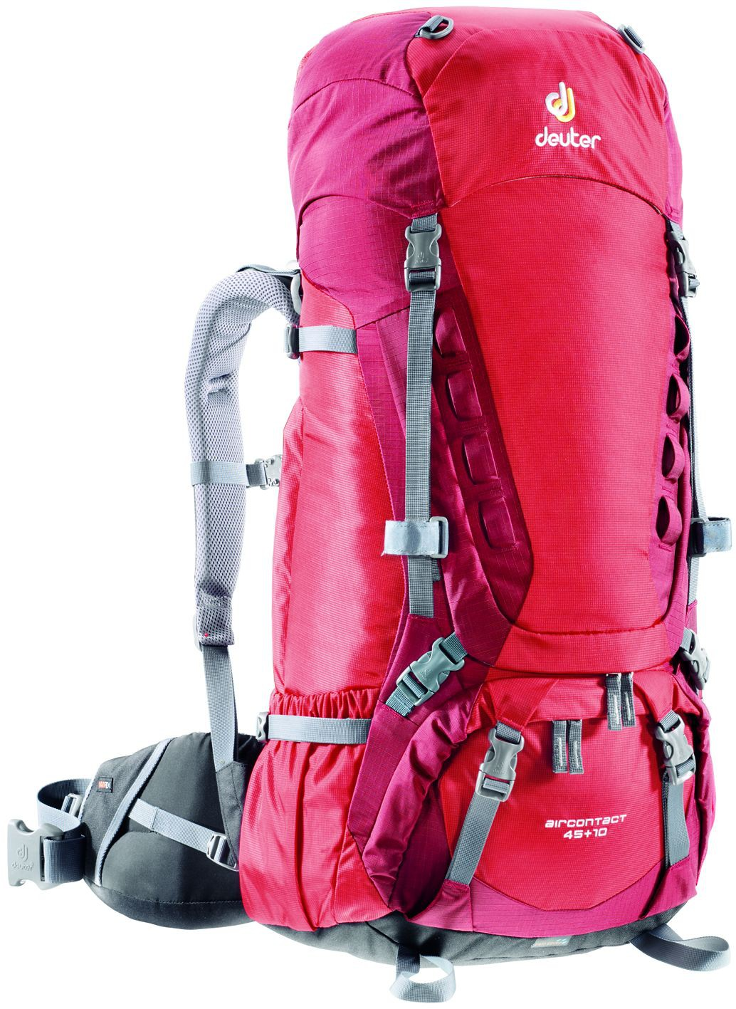 Фото рюкзак deuter aircontact 45+10 fire/cranberry