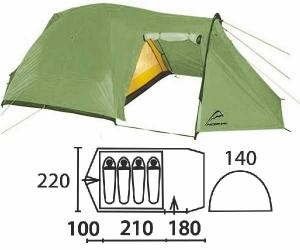 Палатка Нормал НЕВА 4 хаки,  - купить со скидкой