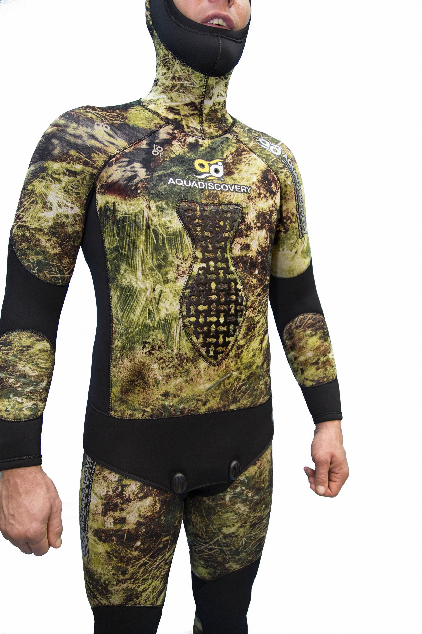 Куртка От Гидрокостюма Для Подводной Охоты Aquadiscovery Волга Camo 3D 5 Мм