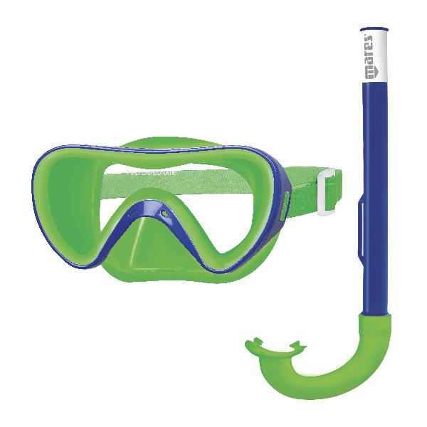 Набор Для Плавания (Маска И Трубка) Mares Turtle, Цв.сине-Зеленый,  -