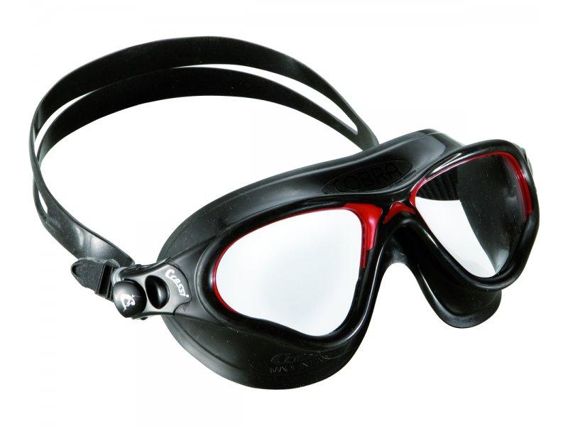 Очки Cressi Cobra Черный Силикон/темные Линзы/черная Рамка