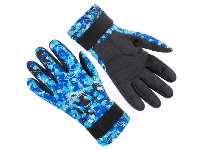 Перчатки Scorpena Tropik - 2 Мм Blue Camo