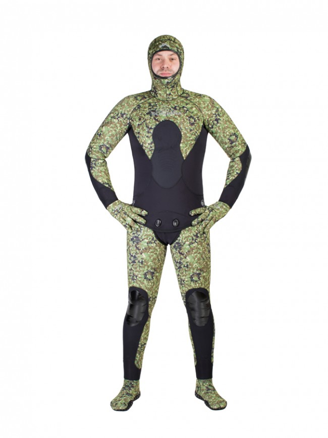 Гидрокостюм Scorpena C3 - 5 Мм Green Camo