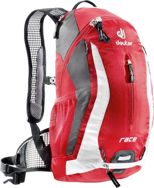 Велорюкзак Deuter Race 10 Fire/white
