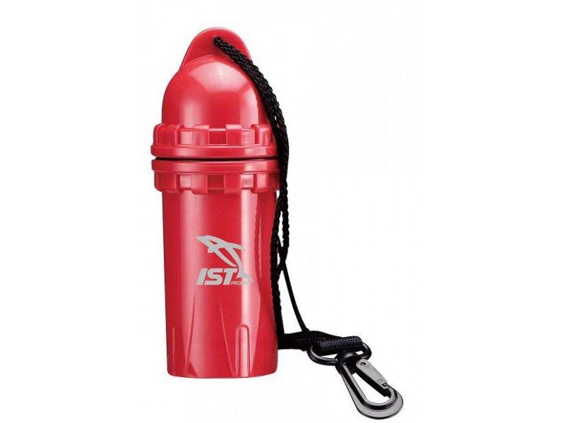 Бокс Водонепроницаемый Жесткий, Под Телефон, Ключи, Диаметр 7См*18 См, Красный Ist