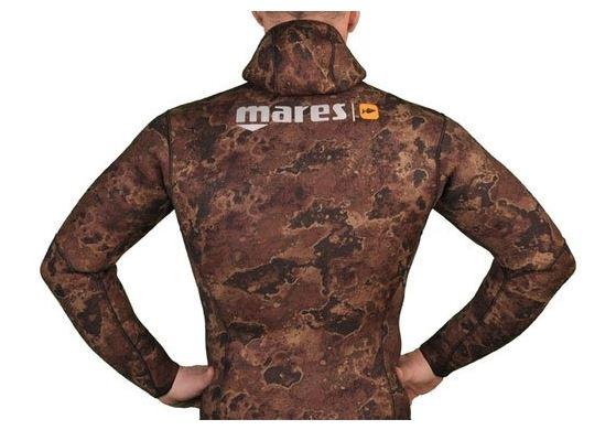 Куртка Гидрокостюма Для Подводной Охоты Mares Instinct 55 Camo Br, 5 Мм, С Открытой Порой Внутри, Цвет Коричневый Камуфляж