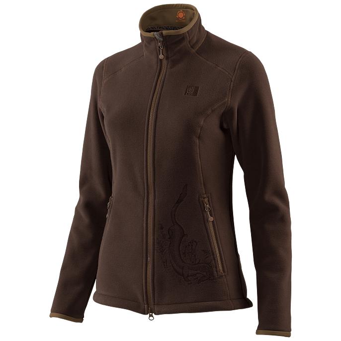 Куртка флисовая спортивная теплая Сивера ЛАСКА 2.1 трюфель, 150070-2-1  - купить со скидкой