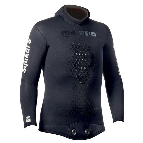 Куртка Гидрокостюма Для Подводной Охоты Mares Squadra 35, 3,5 Мм, С Открытой Порой Внутри, Цвет Черный