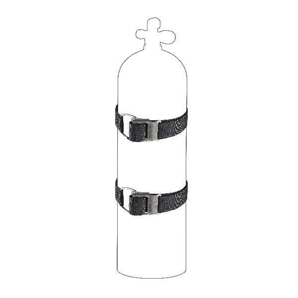 Ремни для баллона со стальной пряжкой (пара) MARES XR, 417541  - купить со скидкой