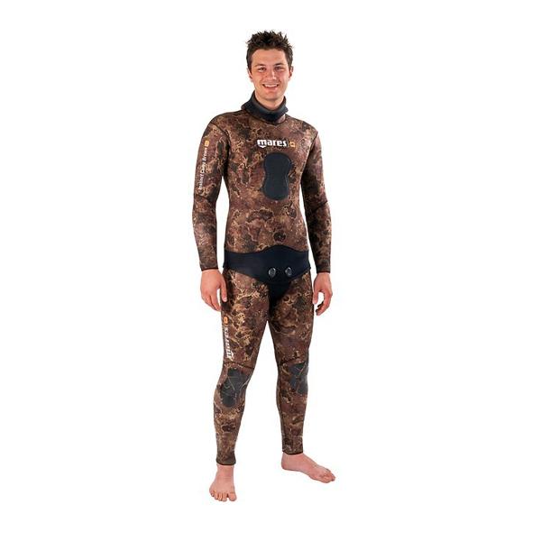Штаны Гидрокостюма Для Подводной Охоты Mares Sf Instinct 55 Camo Br, 5,5Мм, С Открытой Порой Внутри, Цв.коричневый Камуфляж
