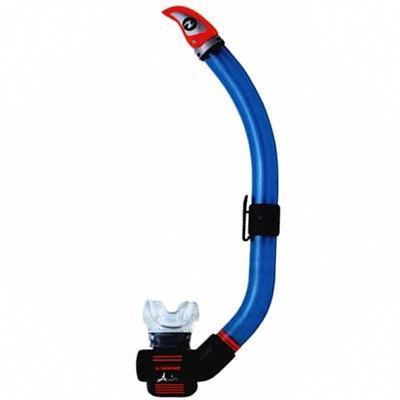 Трубка подводная TechniSub AIR DRY с клапаном (черный силикон) silver, TN178800  - купить со скидкой