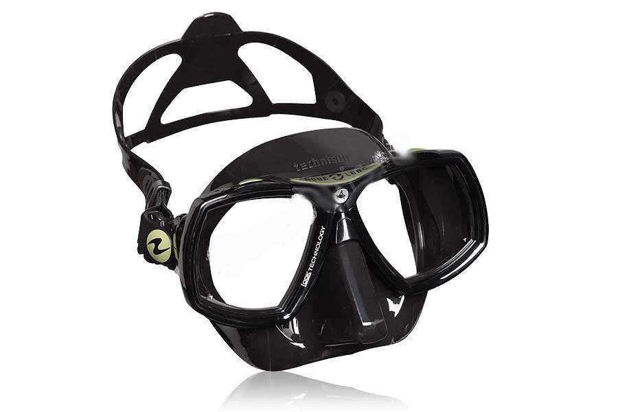 Маска Подводная Technisub Look-2 (Черный Силикон) Black/green фото