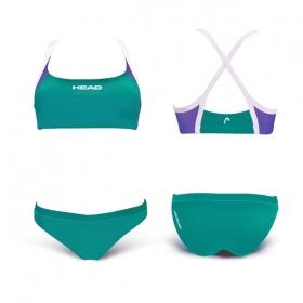 e4a957395 Купальник HEAD Бикини SPRITZ, для тренировок цвет зеленый - купить в ...