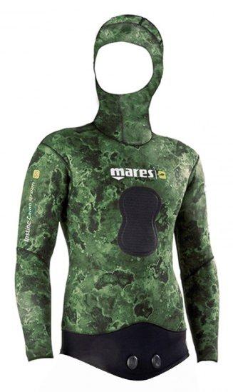 Куртка Гидрокостюма Для Подводной Охоты Mares Instinct 55 Camo, 5 Мм, С Открытой Порой Внутри, Цвет Зеленый Камуфляж