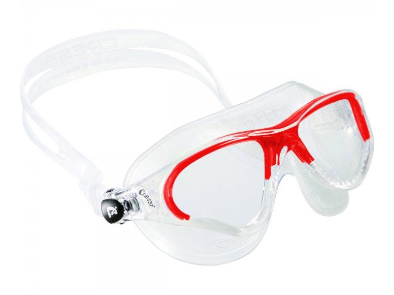 Очки Cressi Cobra Прозрачный Силикон/прозрачные Линзы/красная Рамка
