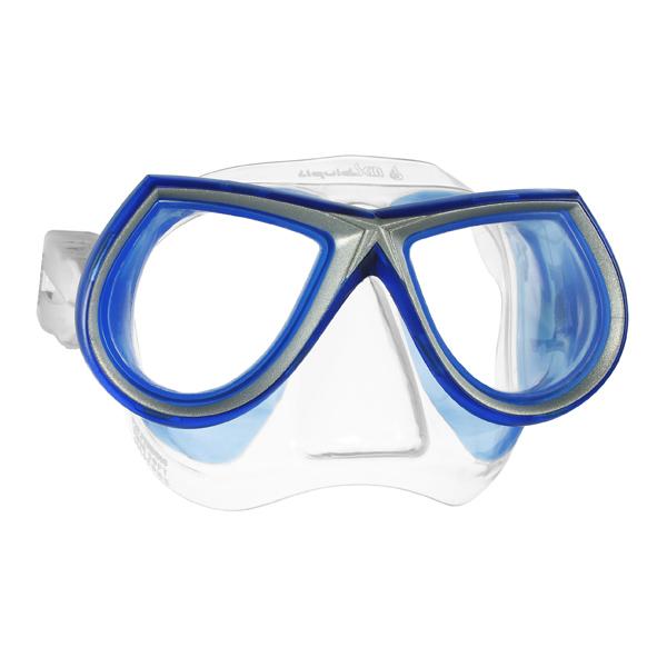 Маска для фридайвинга MARES STAR LiquidSkin - ц.об.прозрачно-синий, ц.р.сине-серебристый, 411030BXCBLBL  - купить со скидкой