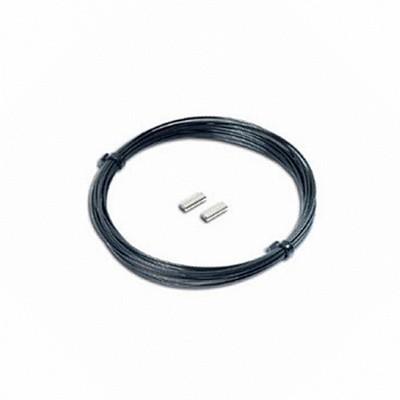 Набор Omer монолинь 1.7мм 5м черный + 2 зажима, OM 1122  - купить со скидкой