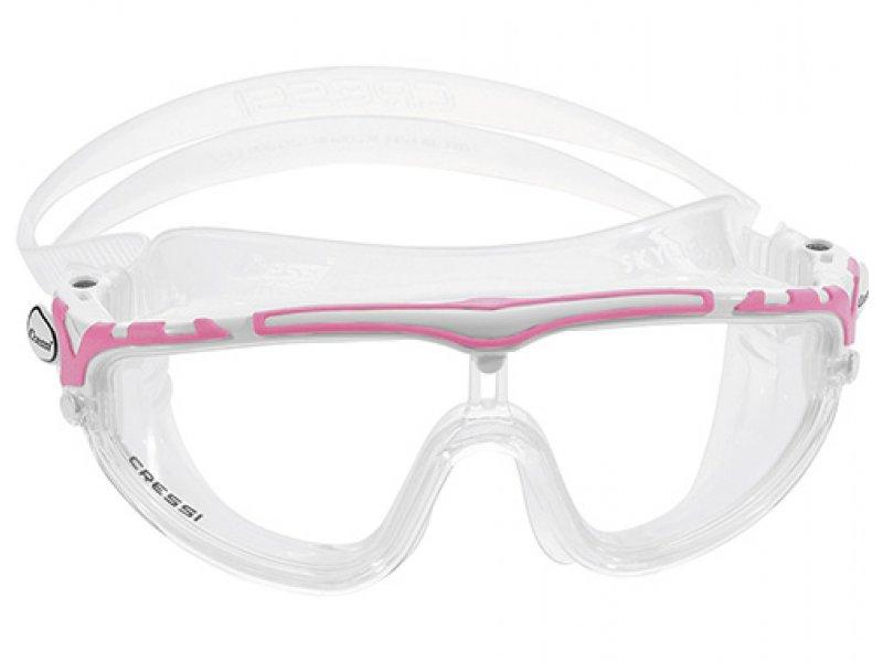 Очки Cressi Skylight Прозрачный Силикон/ Розовая Рамка/прозрачные Линзы