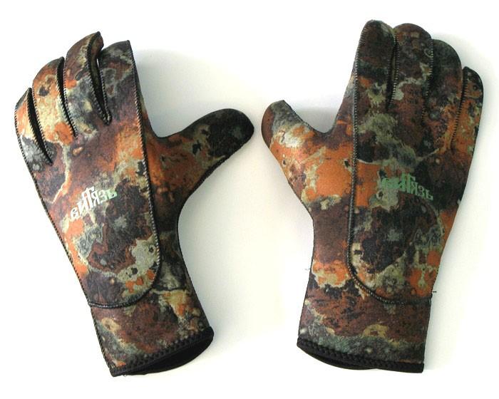 Перчатки Витязь Камуфлированные, 3 Мм