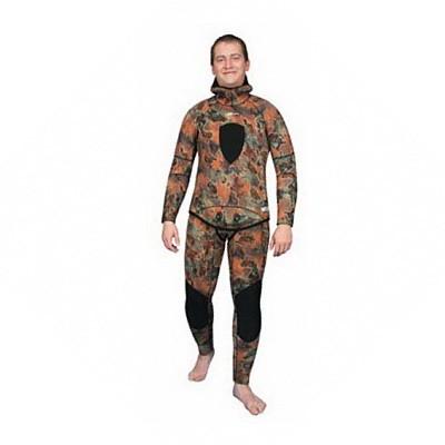 Куртка От Гидрокостюма Для Подводной Охоты Aquadiscovery Calcan Brown 5 Мм фото