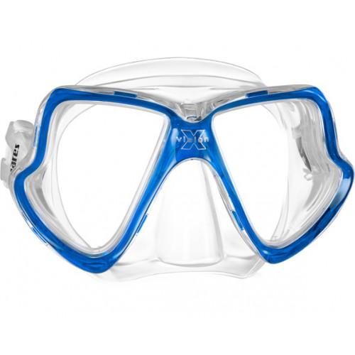 Маска для плавания детская MARES X-VISION MID,, цвет прозрачный / синий, 411024BX CLCBL  - купить со скидкой