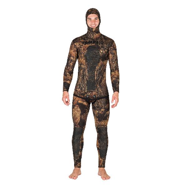 Штаны Гидрокостюма Для Подводной Охоты Mares Sf Squadra Illusion Bwn 50, 5Мм, С Открытой Порой Внутри, Цв.коричневый Камуфляж