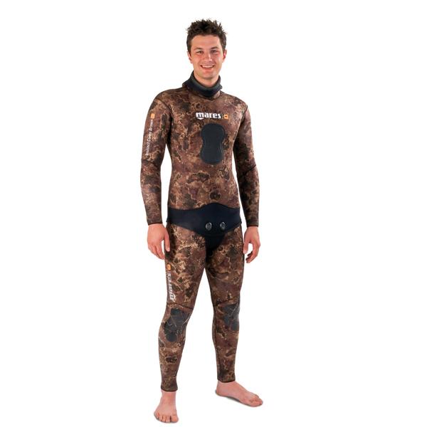 Куртка Гидрокостюма Для Подводной Охоты Mares Instinct 70 Camo Brown, 7 Мм, С Открытой Порой Внутри, Цвет Коричневый Камуфляж