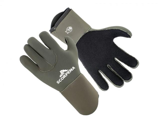 Перчатки Scorpena E - 5 Мм, Xs, Зеленый