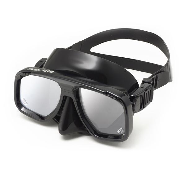 Маска Для Подводной Охоты Riffe Sight Зеркальные Стекла, Цвет Черный