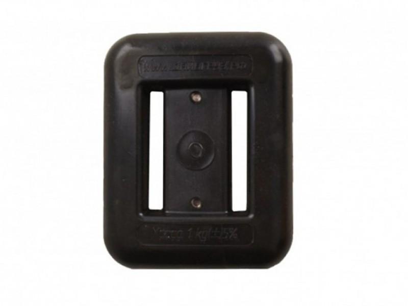 Груз поясной DeepWreck с пластиковым покрытием черный 1.0кг,  - купить со скидкой