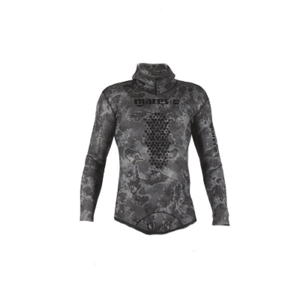 Куртка Гидрокостюма Для Подводной Охоты Mares Sf Explorer Camo Black 70, 7Мм, С Открытой Порой Внутри, Цв.чёрный Камуфляж
