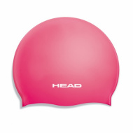 Шапочка для плавания HEAD SILICONE FLAT JR, детская цвет фуксия