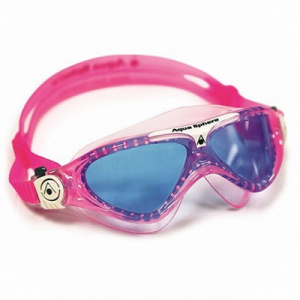 Фото очки для плавания aquasphere vista junior голубые линзы pink/white
