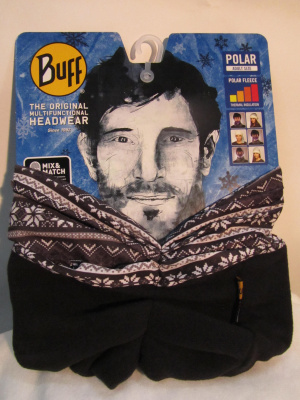 Фото бандана buff polar snowflakes/black