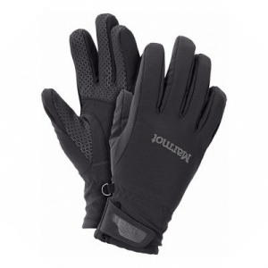 Фото перчатки marmot wm's glide softshell glove black