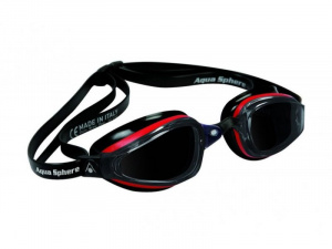 Фото очки для плавания aquasphere k180 red/black темные линзы