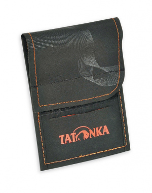 Фото кошелек tatonka hy neck wallet black/orange