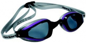 Фото очки для плавания aquasphere k180+ lady темные линзы purple/gray